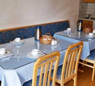 Frühstücksraum Gästehaus Gertrude