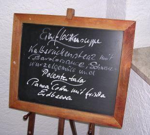 Menüplan Schwandenhof Ferienwohnungen