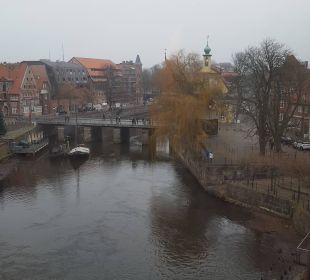 Ausblick zum Alten Kran Romantik Hotel Bergström