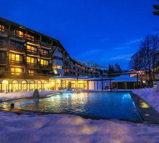 Pool im Winter  Hotel Die Post