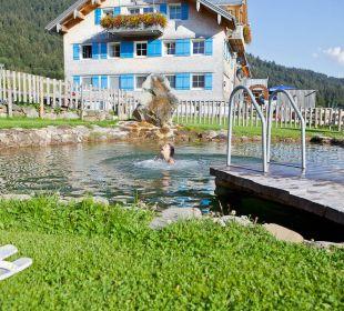 Badeteich zur Abkühlung im Sommer Gasthof Schwabenhof