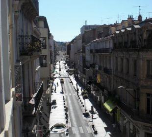 Blick vom Zimmer in die Einkaufsstraße Best Western Hotel Univers