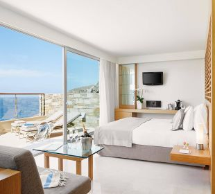 Double Deluxe Room with External Jacuzzi Hotel Lindos Blu