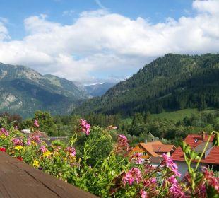 Blick von unserem Balkon Hotel Garni Malerwinkl