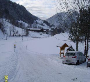 Weg zur Pension Pension Alpenblick