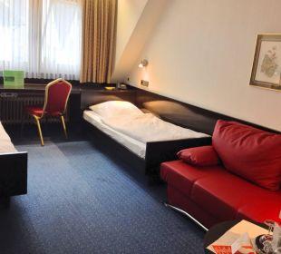 Zweibettzimmer im Haupthaus Hotel Rheinlust
