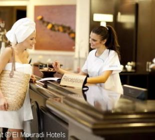 Réception Thalasso Hotel El Mouradi Palm Marina