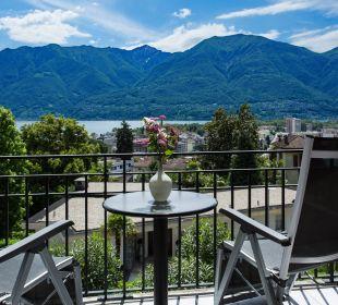 Seeblick vom Zimmerbalkon Hotel Belvedere Locarno