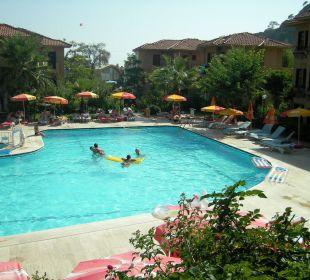 Blick von Speiseterrasse aus Blue Lagoon Hotel Oludeniz