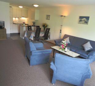 Wohnzimmer in 2 Zimmer Wohnung Ferienwohnungen Azur