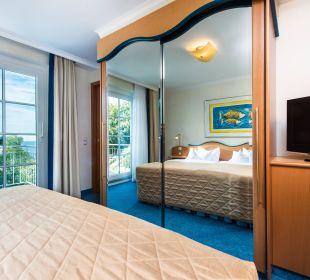 Suite Seeseite Schlafraum Hotel Travel Charme Kurhaus Sellin