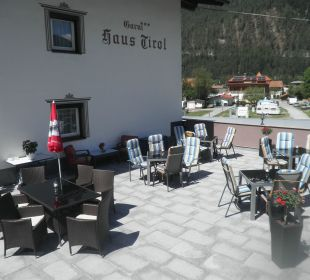 Terrasse Haus Tirol Garni