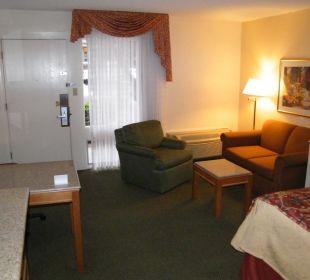 Blick vom Zimmerflur ins Zimmer Best Western Hotel A Wayfarer's Inn