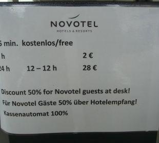 Preise Tiefgarage Novotel Nürnberg Centre Ville