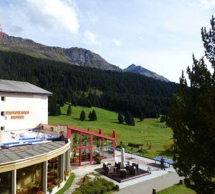 Ausblick von Zimmer 225 Hotel Panorama Valbella (geschlossen)