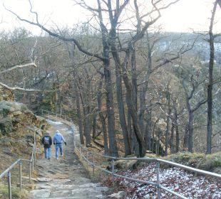 Weg zur Rosstrappe vom Hotel AKZENT Berghotel Rosstrappe