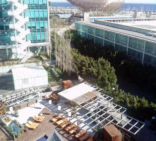 Blick zum Meer Hotel Pullman Barcelona Skipper
