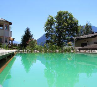 Blick auf die Badezone des Sees Gästehaus Waldrand
