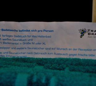 Beschrieb des Badekorbes Traube Braz Alpen.Spa.Golf.Hotel