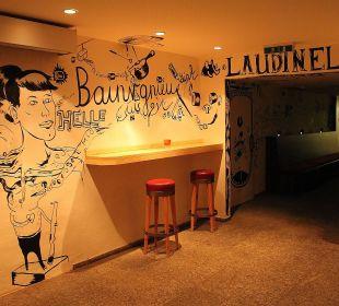 Wandbemalung im Laudinella-Untergeschoss Hotel Laudinella