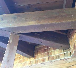 Vogelkot am Balkon Hotel Post Lermoos