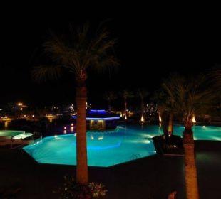 Blick aus unserem Zimmer 331 auf den Pool Hilton Hurghada Plaza