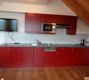 Sehr gut ausgestattete Küchenzeile Hotel Alpenroyal