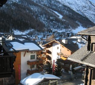 Blick auf Downtown Sunstar Boutique Hotel Beau-Site Saas-Fee