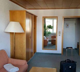 """Eingangsbereich un """"Wohnzimmer"""" Hotel Wald und See"""