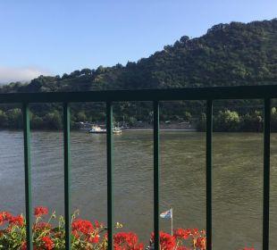 Aussicht vom Balkon Hotel Rheinlust