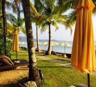 Blick vom Beachbungalow Hotel Chong Fah Beach Resort