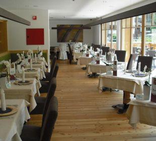 Tische im Restaurant Hotel Monika