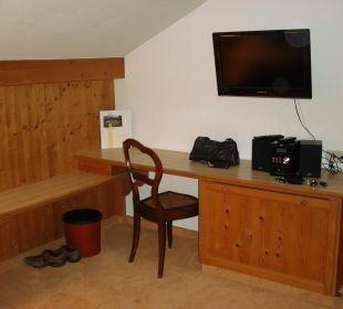 Flatscreen-TV und Mini-Stereoanlage Hotel Mühlenhof