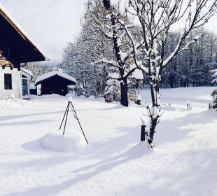 Unser Haus und Garten im Winter! Wohlfühl-Ferienwohnung Fritz Bodenmais
