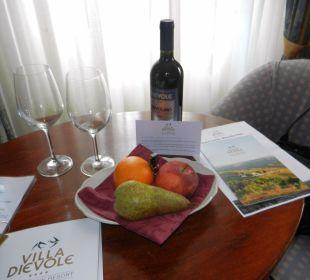 Begrüssungs-Set im Zimmer Hotel & Wine Resort Villa Dievole