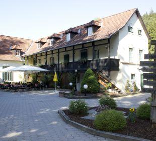 Großzügiger Gastgarten Wohlfühlhotel Liebnitzmühle