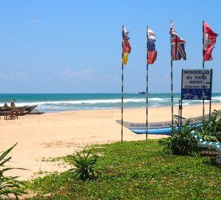 Schöner leerer Strand Wunderbar Beach Club Hotel