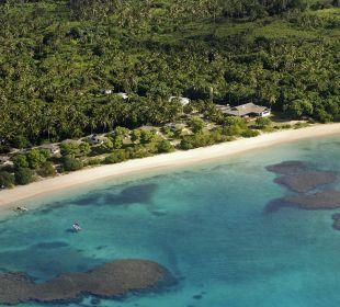 Luftaufnahme auf das Resort Sandy Beach Resort Tonga