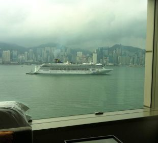 Blick aus dem Zimmer zum Hafen InterContinental Hotel Grand Stanford Hong Kong