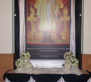 Gedenken an verstorbenen König Anantara Bophut Koh Samui Resort