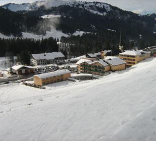 Winterlandschaft  Hubertus Alpin Lodge & Spa
