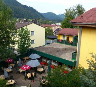 Ausblick von unserem Zimmer Hotel Ariell