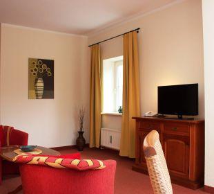 Doppelzimmer Comfort plus Wohnbeispiel Villa Strandkorb Hotel Garni