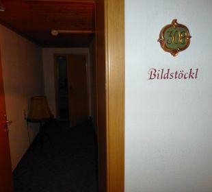 "Eingang ins Zimmer 308 ""Bildstöcll"" Hotel Rustika"