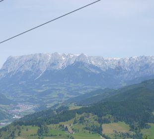 Blick aus der Gondel in Alpendorf Hotel Zinnkrügl