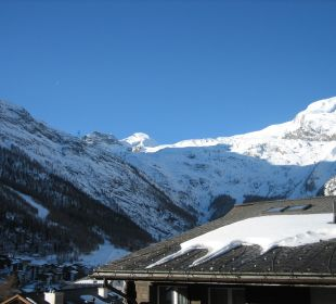 Ausblick Balkon Sunstar Boutique Hotel Beau-Site Saas-Fee