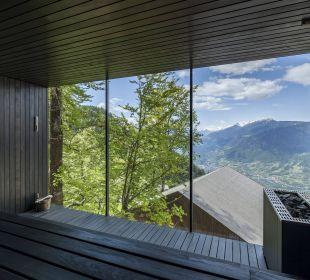 Waldsauna mit Blick, Forest Sauna MIRAMONTI Boutique Hotel