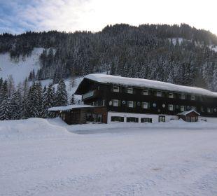 Die Rosengasse im Schnee  Berggasthof Rosengasse