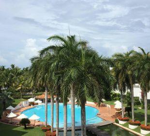 Aussicht vom Balkon Hotel Lanka Princess