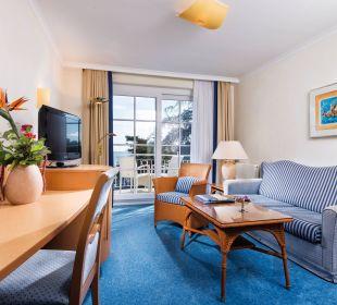Suite Seeseite Wohnraum Hotel Travel Charme Kurhaus Sellin